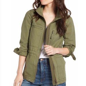 Madewell army green utility jacket